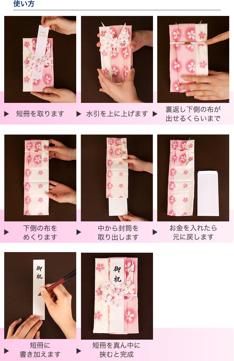 手ぬぐい祝儀袋の使い方