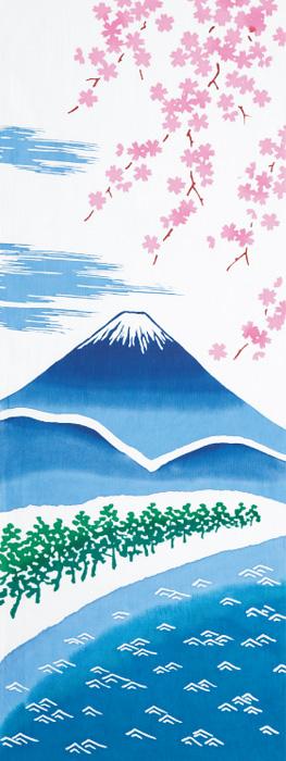 春の富士山